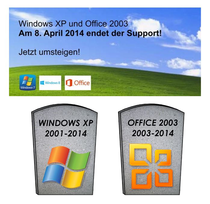 windows xp und office 2003 stirbt