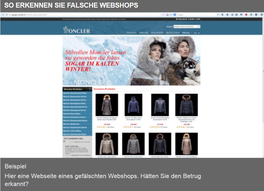 gefälschte webshops