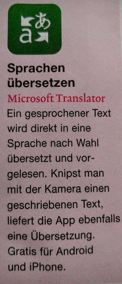 microsoft übersetzer translator fürs smartphone